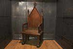 english mahogany gothic armchair