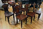 set of six irish mahogany hall chairs