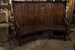 english carved oak settle