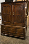 english oak linen press cupboard