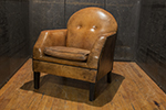 leather armchair by bart van bekhoven from holland