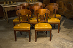 set of eight french rosewood chairs