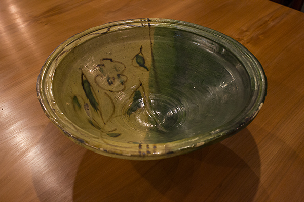 french yellow and green bowl