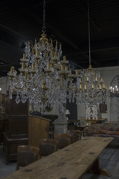 pair of italian crystal chandeliers