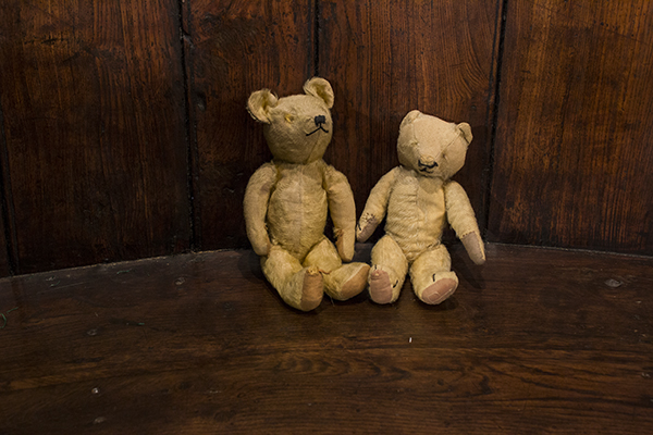 two english blind teddy bears