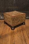english needlepoint stool