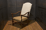 french walnut reclining chair