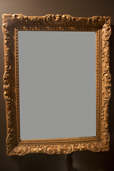 english pine carved mirror
