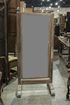 french dressing mirror with scrubbed frame