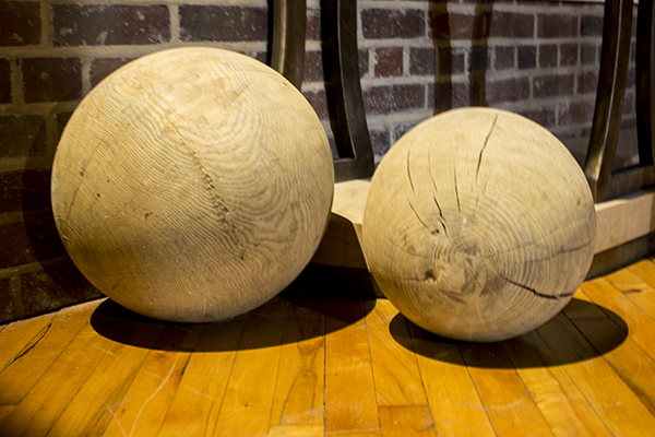 pair of belgium elm balls