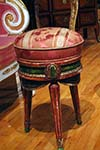 pair of french painted stools