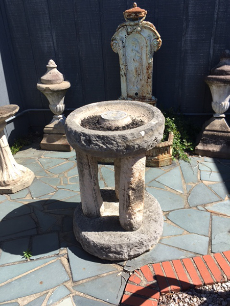 french stone bird bath