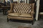 english leather tufted sofa