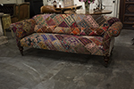 fabulous crazy patchwork vintage english sofa