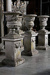 set of four urns on stand